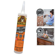 Gorilla Clear 100 Percent Silicone Sealant Caulk, Waterproof And Mold  Mildew R