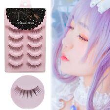 5 Pairs Cosplay False Eyelashes Cross Eye Makeup Handmade Natural Long Lashes