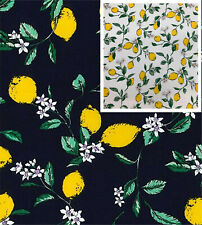 Cotton Poplin Lemons - Lemon Tree Fabric Material - 0790