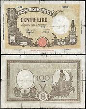 100 Lire Barbetti contrassegno BI 10/10/1944 Azzolini - Urbini