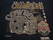 Vintage NFL Dallas Cowboys Football 1992 Super Bowl Champions Blue T Shirt L