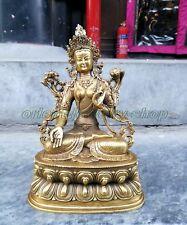 Old Folk Tibet Tibetan Buddhism Temple Bronze Statue White Tara Buddha
