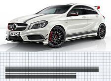 Mercedes-Benz A45 W176 A-Class AMG Roof Bonnet stripe decal set EDITION 1 style