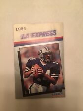 1984 LA Express (United States Football League) Pocket Schedule