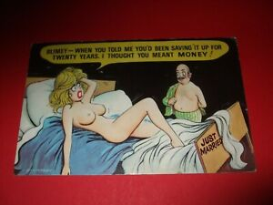 Saucy 70s BAMFORTH COMIC Nude naked lady OLD MAN SAVED UP FOR 20 YEARS NOT MONEY