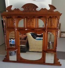 Over mantle Mirror & shelves Circa 1800s