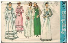 6671 Vintage Simplicity Sewing Pattern Misses Wedding Bridesmaids Dress Gown 12