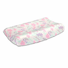 Floral Changing Pad Cover in Pink, Mint, Purple and Grey by The Peanut Shell