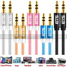 3.5mm ETS Brand AUX Male to Male Stereo Jack Headphone Speaker Lead Cable UK NEW