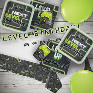 Level Up Game On! Gaming Party Tableware, Decorations & Balloons