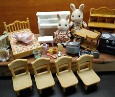 Sylvanian Family Calico Critters Sweetpea Rabbits Furniture Accessories Lot