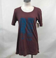 Obey Women's T-Shirt Program Your Mind Dark Maroon Size S NWT Shepard Fairey