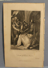 ANTIQUE PRINT ENGRAVING from The Life of Petrach 200+ yrs old PRINCE ANDREW