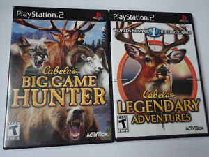 Cabelas Big Game Hunter & Legendary Adventures NTSC US Bundle Playstation 2 PS2