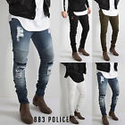 Mens 883 Police Designer Skinny Stretchable Denim Slim Ripped Distress Jeans B1