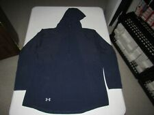 Under Armour Men's Heat Gear Navy Blue Zip Up Loose Hooded Jacket Size XL