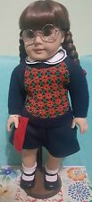 "American Girl Molly Pleasant Co. With Book 18"" Retired With Stand Used W/out Box"
