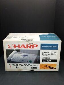 Sharp UX-300 Fax Machine NEW Plain Paper Fax Copier Phone 3 in 1