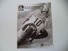 advertising Pubblicità 1974 CASCO HELMET AGV e GIACOMO AGOSTINI