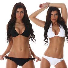 Damen Bikini Set Bademode Badeanzug Neckholder Slip Top 34 36 38 40 42