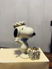 Lenox Snoopy's Birthday Surprise September Sapphire Colored Birthstone Figurine