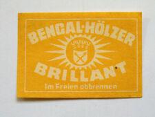 Etiquette Boite d'Allumette BENGAL ALLEMAGNE Matchbox Label GERMANY Matches