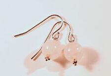 Greenwood Designs Fair Trade Rose Quartz Sterling Silver Dangle Earrings