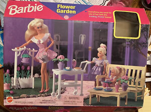 1996 Mattel Barbie Flower Garden Complete 67531-91