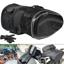 Large Capacity Multi-use Expandable Motorcycle Rear Seat Luggage Saddle Bag 58L