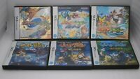 Nintendo DS Pokemon Fushigi no Dungeon 3Games & Pokémon Ranger 3Games 6pcs Japan
