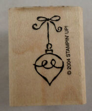 Stampin Up 2004 Dangling Holiday Ornament On A String Wooden Rubber Stamp