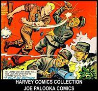 Golden Age JOE PALOOKA HARVEY COMICS BOOK LOT DVD Ham Fisher Champ Black Cat 12