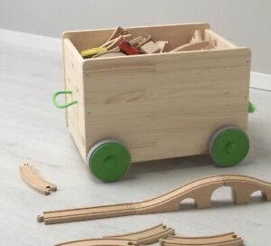IKEA FLISAT Toy Storage With Wheels Box Organiser Children's Nursery Room