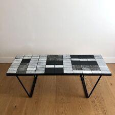 GUY RESSE x GALERIE LA ROUE Rare Table Basse Céramique & Lave 1960 Matégot Jouve