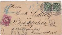 Brief von Dresden nach USA 1893