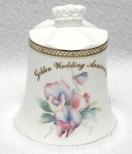 Aynsley Collectible Bone China Golden Wedding Anniversary Crown Bell England