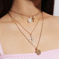Women Retro Bow Choker Faux Pearl Pendant Flocking Necklace Jewelry Gift AM/_ GN