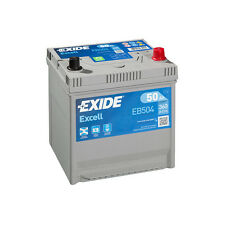 1x Exide Excell 50Ah 360CCA 12v Type 008 Car Battery 3 Year Warranty - EB504