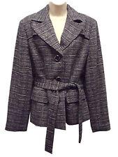 NWT Jones New York Women's Tweed Coat  Black/White  Large     Retails$179