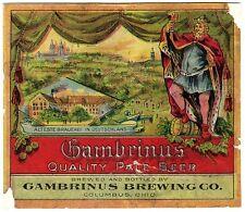Pre-pro Gambrinus Pale Beer Label - Columbus, OH