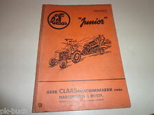 Spare Parts List / Parts Catalog Claas Junior Combine Harvester Stand 1960