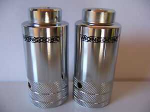 MONGOOSE Threaded Oversized Pegs 26T Cro-moly BMX Lowrider Cruiser Bikes
