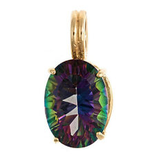 Mystic Topaz Pendant 14x10mm 14k Yellow Gold