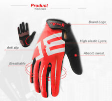 Men Women Cycling Gloves Full Finger Gel Motocycle MTB Road Bike Bicycle Riding