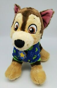 """Build a Bear Paw Patrol Chase Talking Plush 14"""" Toy Stuffed Dog with Outfit BAB"""