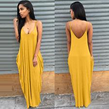 US Women Boho Maxi Long Dress Evening Cocktail Party Summer Beach Sun Dress New