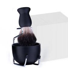 3Pcs Shaving Kit Shave Razor Badger Brush Stand Holder Bowl Mug Gift Set Beard