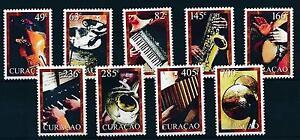 [CU019] Curacao 2011 Music Instruments Trumpet Saxophone MNH