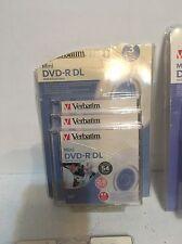 Verbatim 2.6GB 4X speed Mini Double Layer Recordable Disc DVD-R DL, 3-Disc Jewel