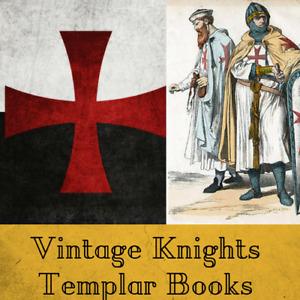 148 Rare Knights Templar Books on Data DVD - Crusades Freemasons Secret Rituals